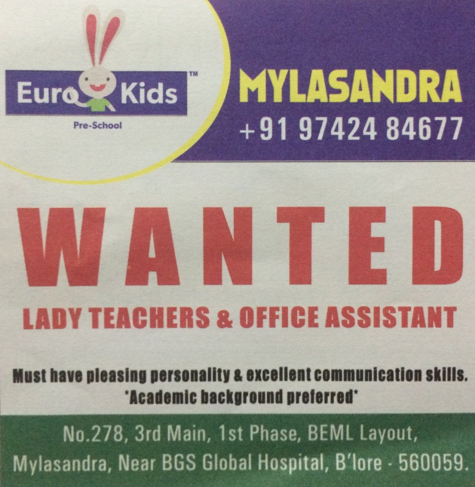 Wanted Teachers Off Assistants