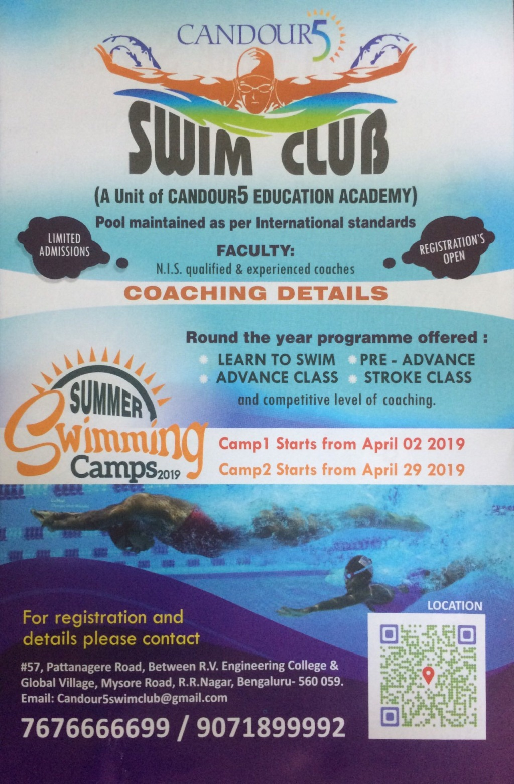 Summer Swimming Camps